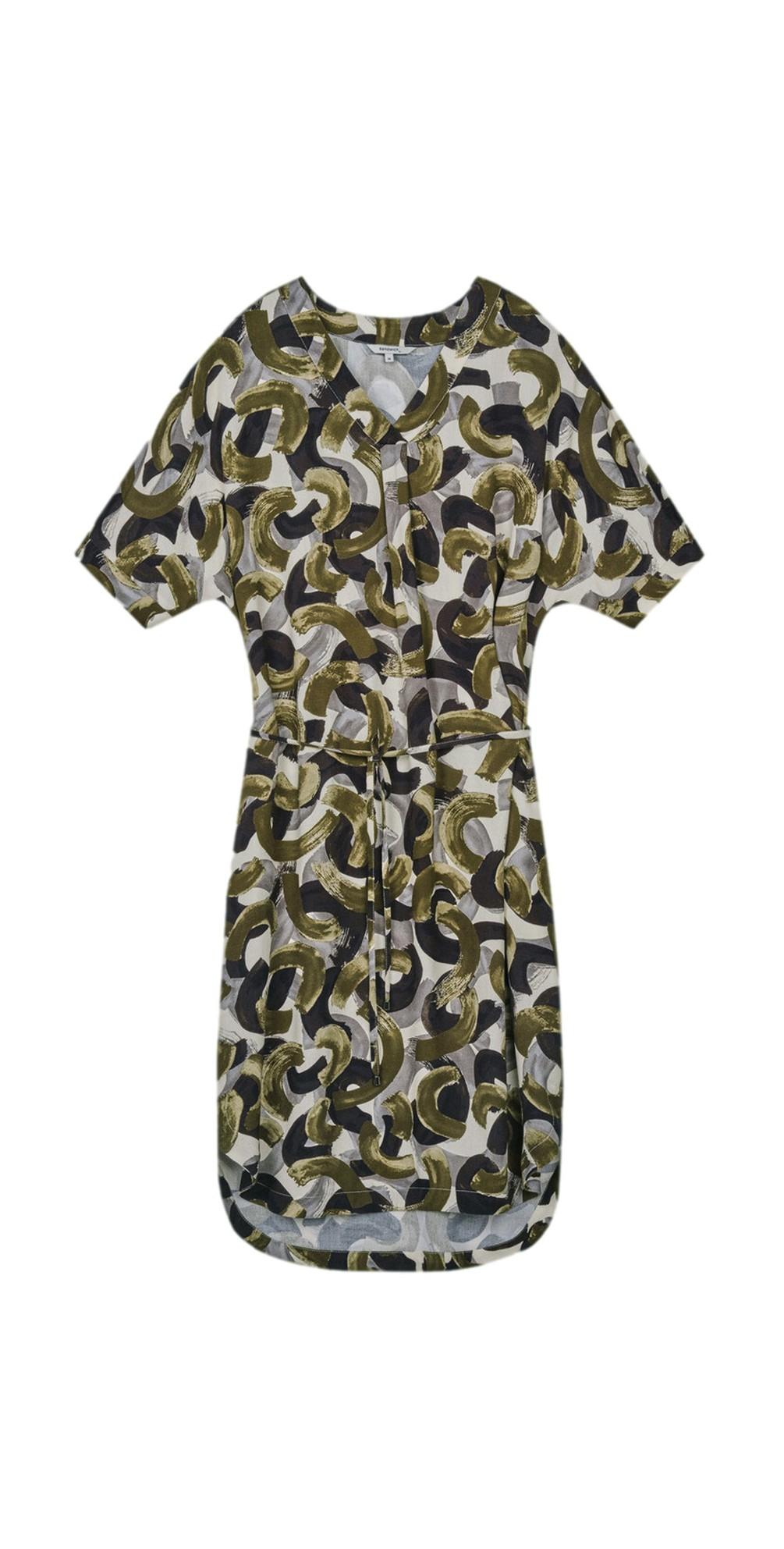 Abstract Print Woven Dress main image