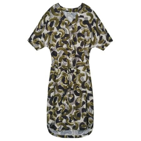 Sandwich Clothing Abstract Print Woven Dress - Green