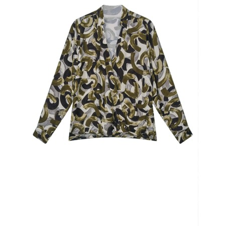 Sandwich Clothing Woven Crossover Blouse  - Green