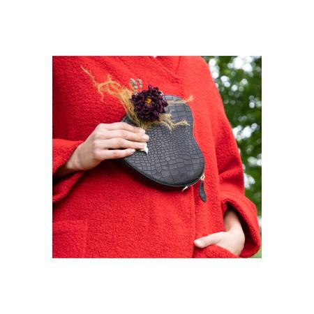Bell & Fox Armour Heart Shape Cross Body Bag - Black