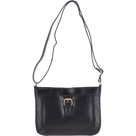 Ashwood Stratton Leather Cross Body Bag  - Black