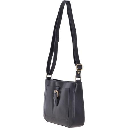 Ashwood Stratton Leather Cross Body Bag  - Blue