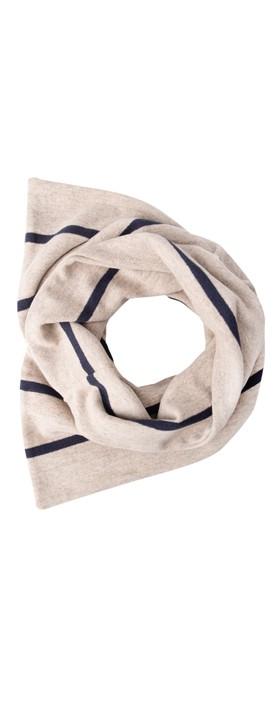 Mama B Spacco RG Wide Stripe Fleece Snood Blu / Marmo