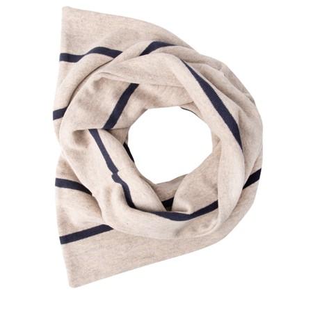 Mama B Spacco RG Wide Stripe Fleece Snood - Blue