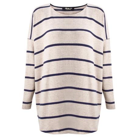 Mama B Sunny RG Wide Stripe Fleece Jumper - Blue