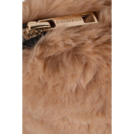 RINO AND PELLE Doxy Cross Body Faux Fur Bag - Brown