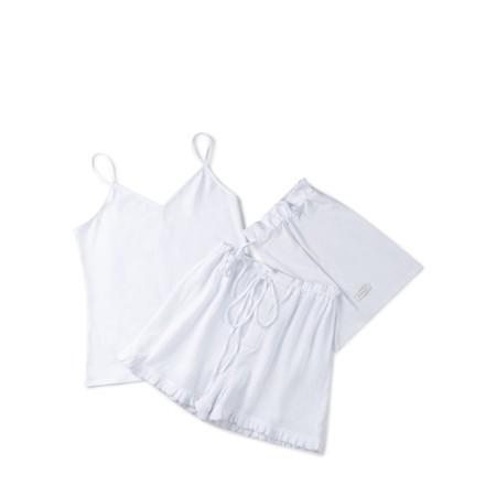 Chalk Fern Pyjama Set - White
