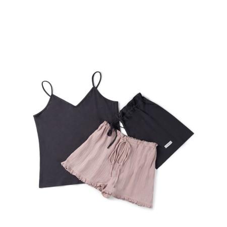 Chalk Fern Pyjama Set - Black