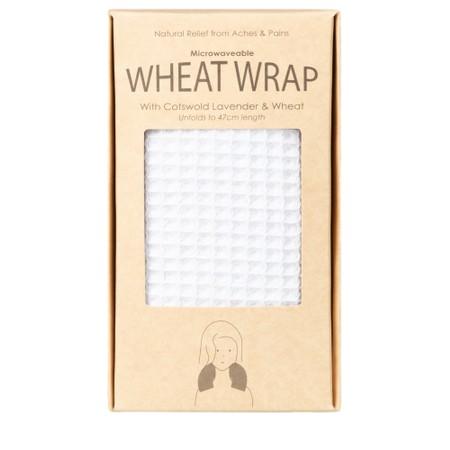 Chalk Willow Wheat Wrap - White