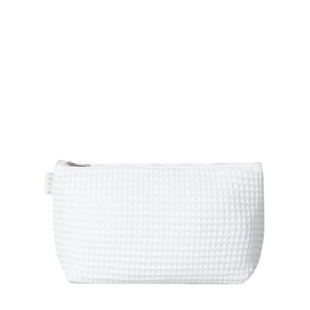 Chalk Waffle Wash Bag - White