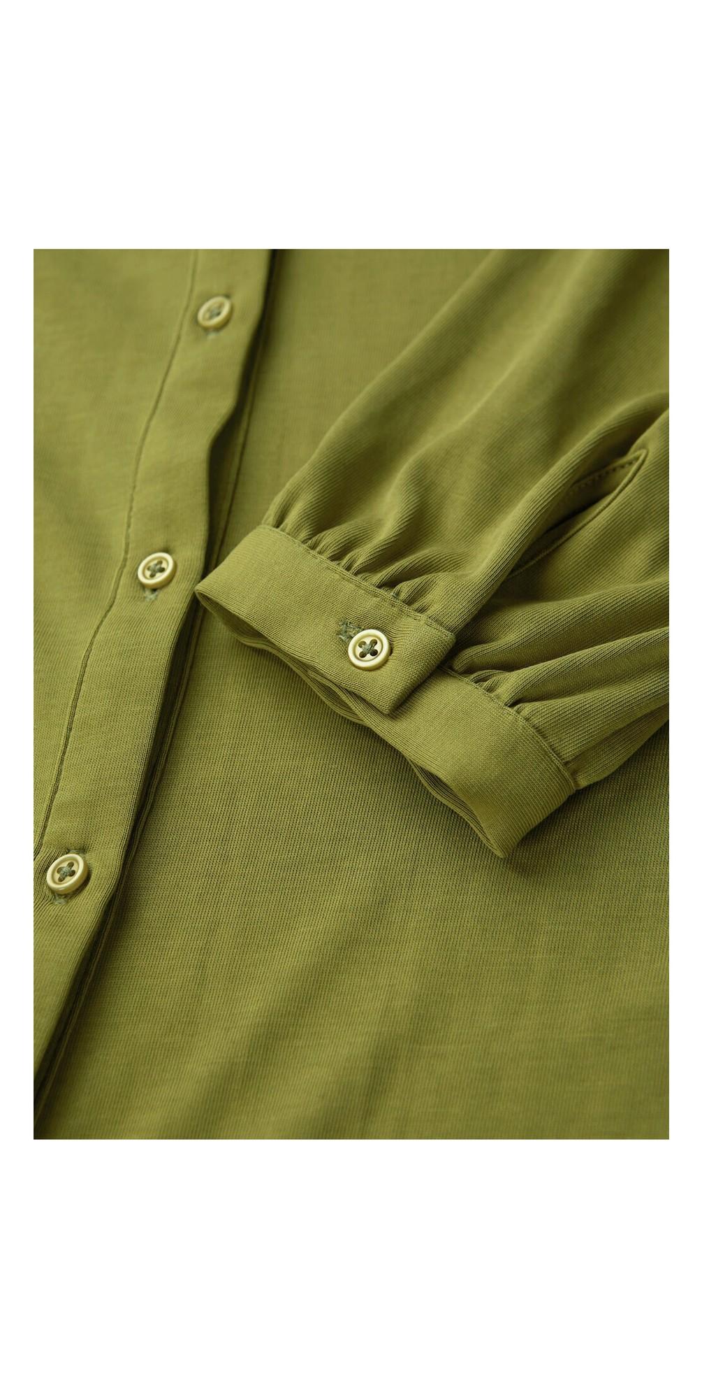 Long Sleeve Jersey Blouse main image