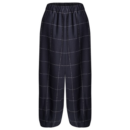 Mama B Pino S Qsant Cotton Check Trouser - Blue