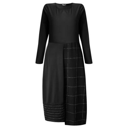 Mama B Panna Q Qsant Cotton Check Dress - Black