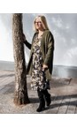 Sandwich Clothing Military Olive Oversized Long Wool Blend Cardigan