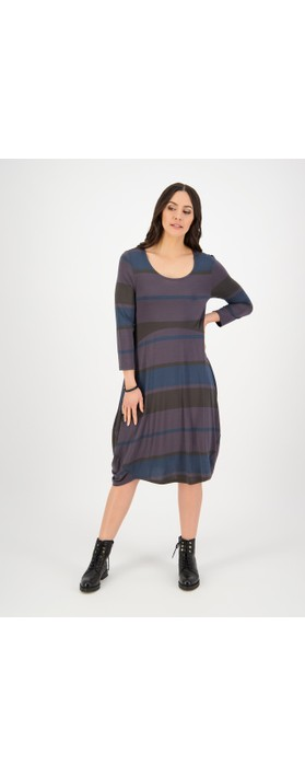 Foil Pie in The Sky Dress Multi Stripe