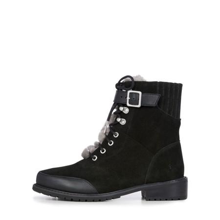 EMU Australia Waldron Suede and Leather Waterproof Hiker Boot - Black