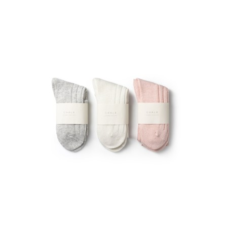 Chalk Cashmere Lounge Socks - Pink