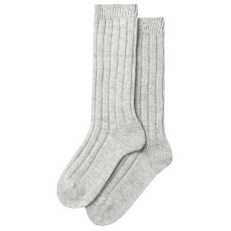 Chalk Cashmere Lounge Socks - Metallic