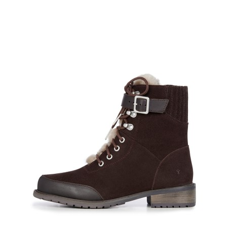 EMU Australia Waldron Suede and Leather Waterproof Hiker Boot - Brown