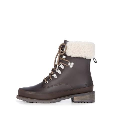 EMU Australia Okab Waterproof Leather Hiker Boot  - Brown