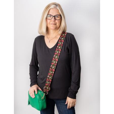 Gemini Label Accessories Matryoshka Floral Bag Strap  - Green