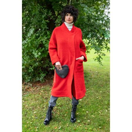 Sahara Soft Bobble Wool Coat - Orange