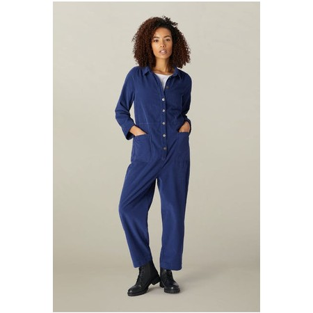 Sahara Cotton babycord Jumpsuit - Blue