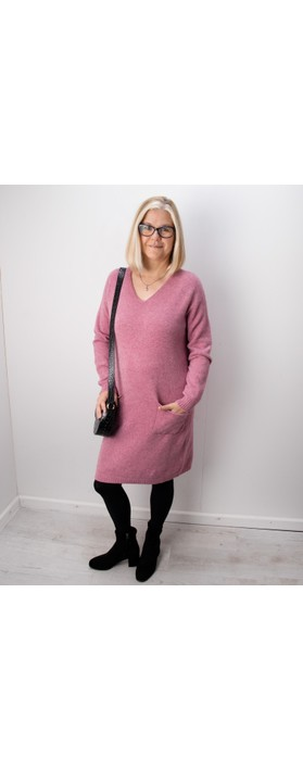 Amazing Woman Pollie V Neck Dress Orchid