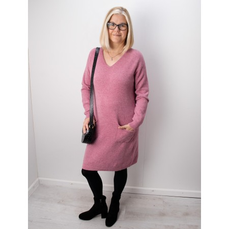 Amazing Woman Pollie V Neck Dress - Purple