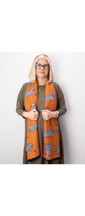 Gemini Label Accessories Atara Leopard Scarf Orange