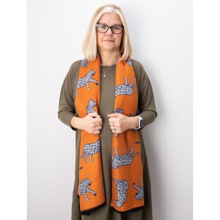 Gemini Label Accessories Atara Leopard Scarf - Orange