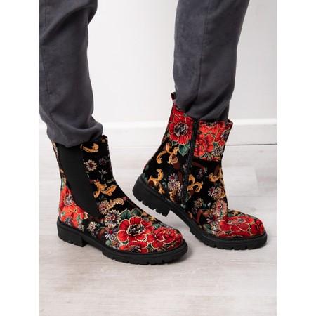 Jana Tapestry Chelsea Boot - Black