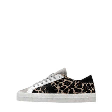 D.A.T.E Hill Low Pony Leopard Trainer  - Multicoloured