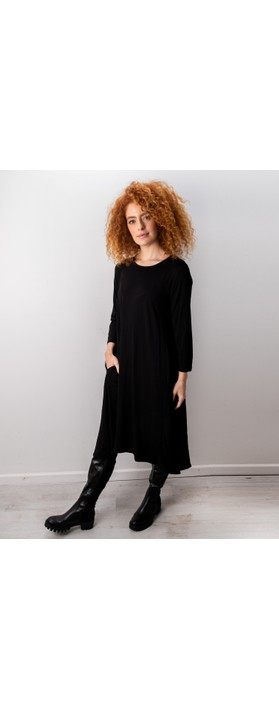 Foil Swing Both Ways Dress Black