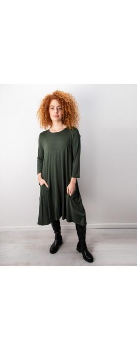 Foil Swing Both Ways Dress Khaki