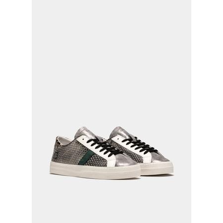 D.A.T.E Hill Low Pong Low Top Sneaker - Silver