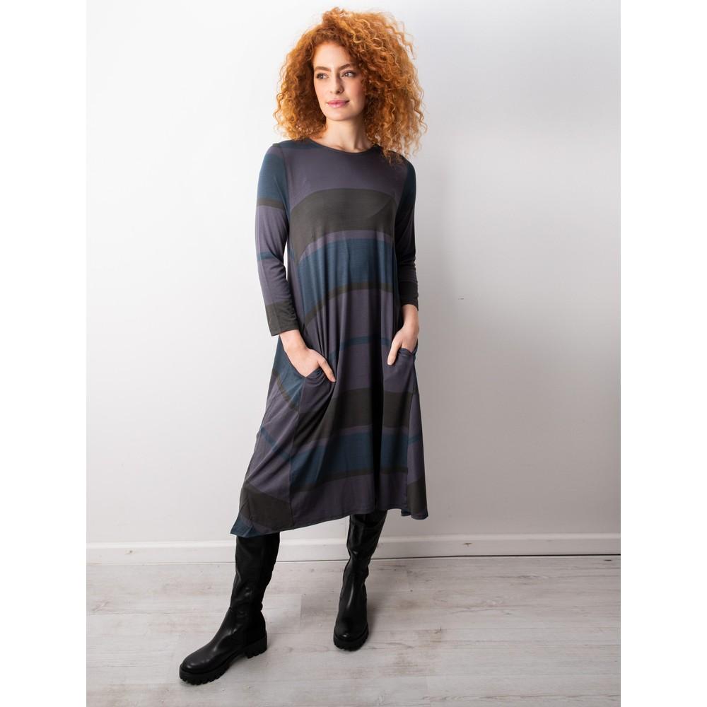 Foil Swing Both Ways Dress Multi Stripe