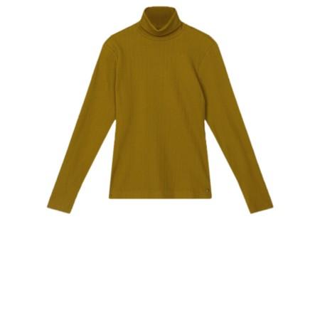 Sandwich Clothing Long Sleeve Ribbed Turtleneck  - Gold