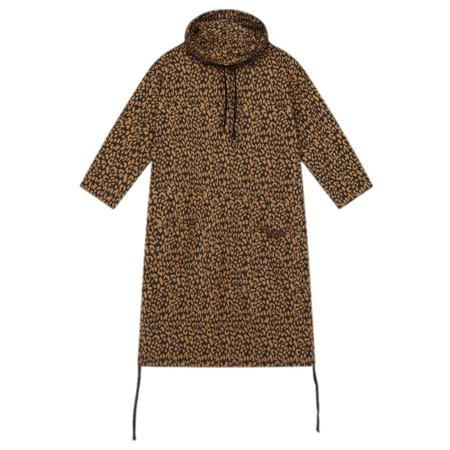 Sandwich Clothing Leopard Print Cowl Neck Dress  - Blue