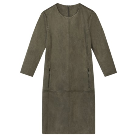 Sandwich Clothing Faux Suede Dress  - Green