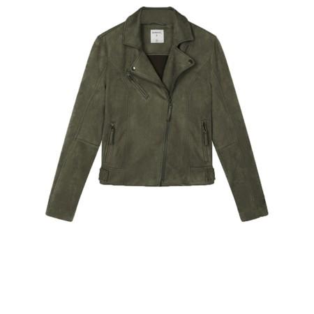 Sandwich Clothing Faux Suede Biker Jacket - Green