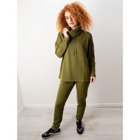 Foil Softly Spoken Cowl Top - Green