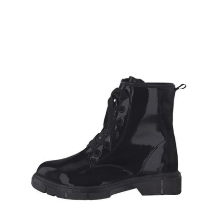 Marco Tozzi Badie Patent Boot - Black