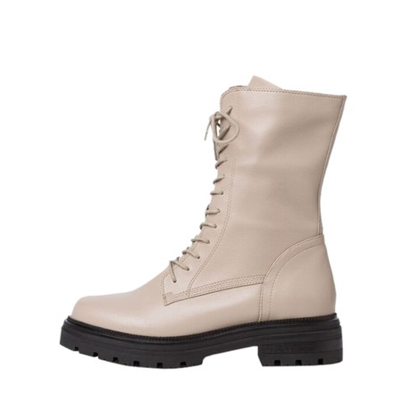 Marco Tozzi Formelo Military Boot - Off-White