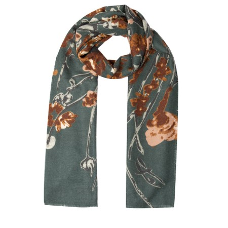 Gemini Label Accessories Josette Abstract Floral Scarf - Green
