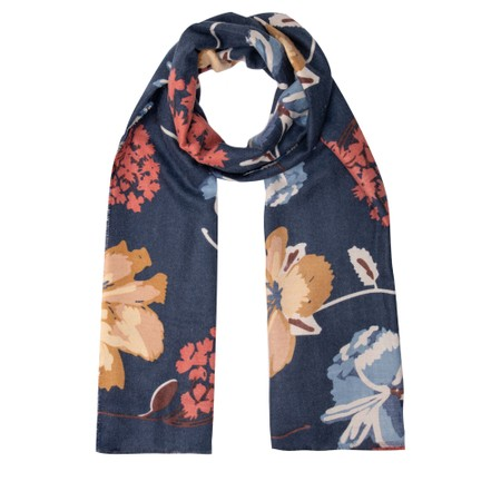 Gemini Label Accessories Josette Abstract Floral Scarf - Blue