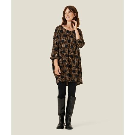 Masai Clothing Animal Print Galeny Jersey Tunic - Brown