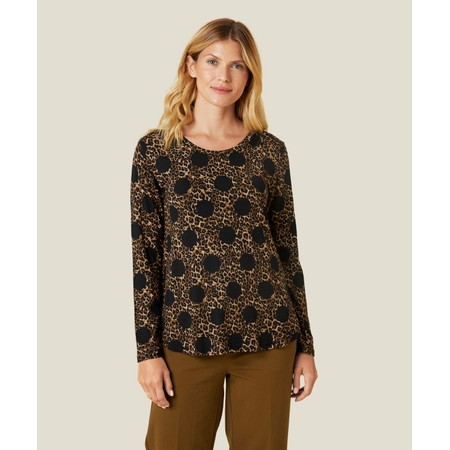 Masai Clothing Animal Print Badisna Top - Brown