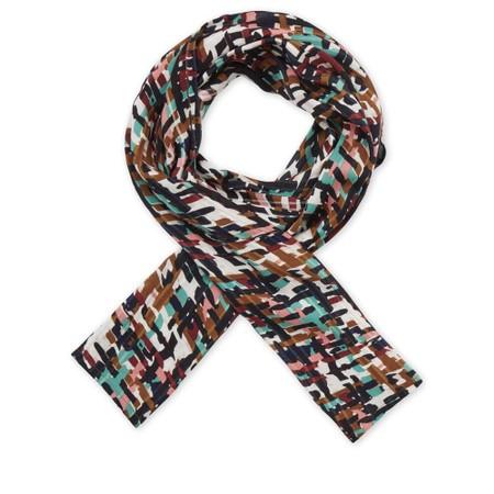 Masai Clothing Syrah Multicoloured Print Along Scarf - Multicoloured