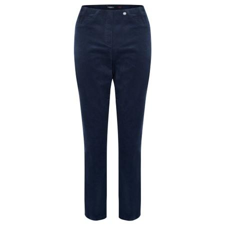 Robell Bella 78cm Needlecord Full Length Trouser - Blue